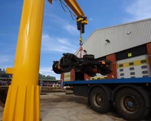 Advanced bogie handling crane for Northern Rail