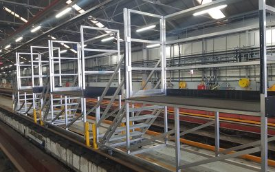 Access equipment for railways